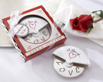 'A Slice of Love' Stainless-Steel Pizza Cutter in Miniature Pizza Box