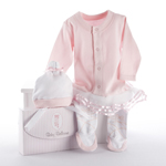 'Big Dreamzzz' Baby Ballerina Two-Piece Layette Set in 'Studio' Gift Box