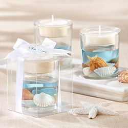 'Seashells' Seashell Gel Tealight Holder
