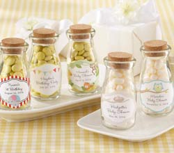 'Vintage' Personalized Milk Bottle Favor Jar (Baby) (Set of 12)