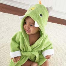 'My Little Monster' Hooded Spa Robe