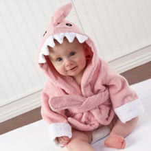 'Let the Fin Begin' Pink Shark Robe